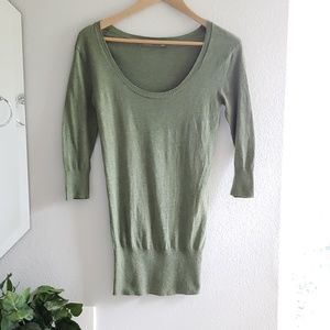 Rubbish • green scooped neck sweater